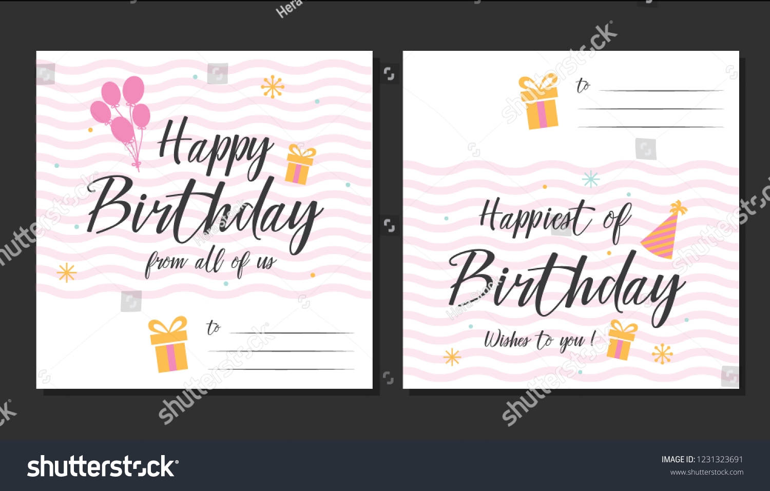 Happy Birthday Greeting Cards Designs For Prints Party Invitations Posters