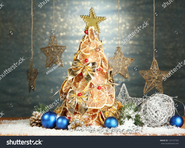 Beautiful Christmas Tree Dry Lemons Decor Stock Photo Edit Now