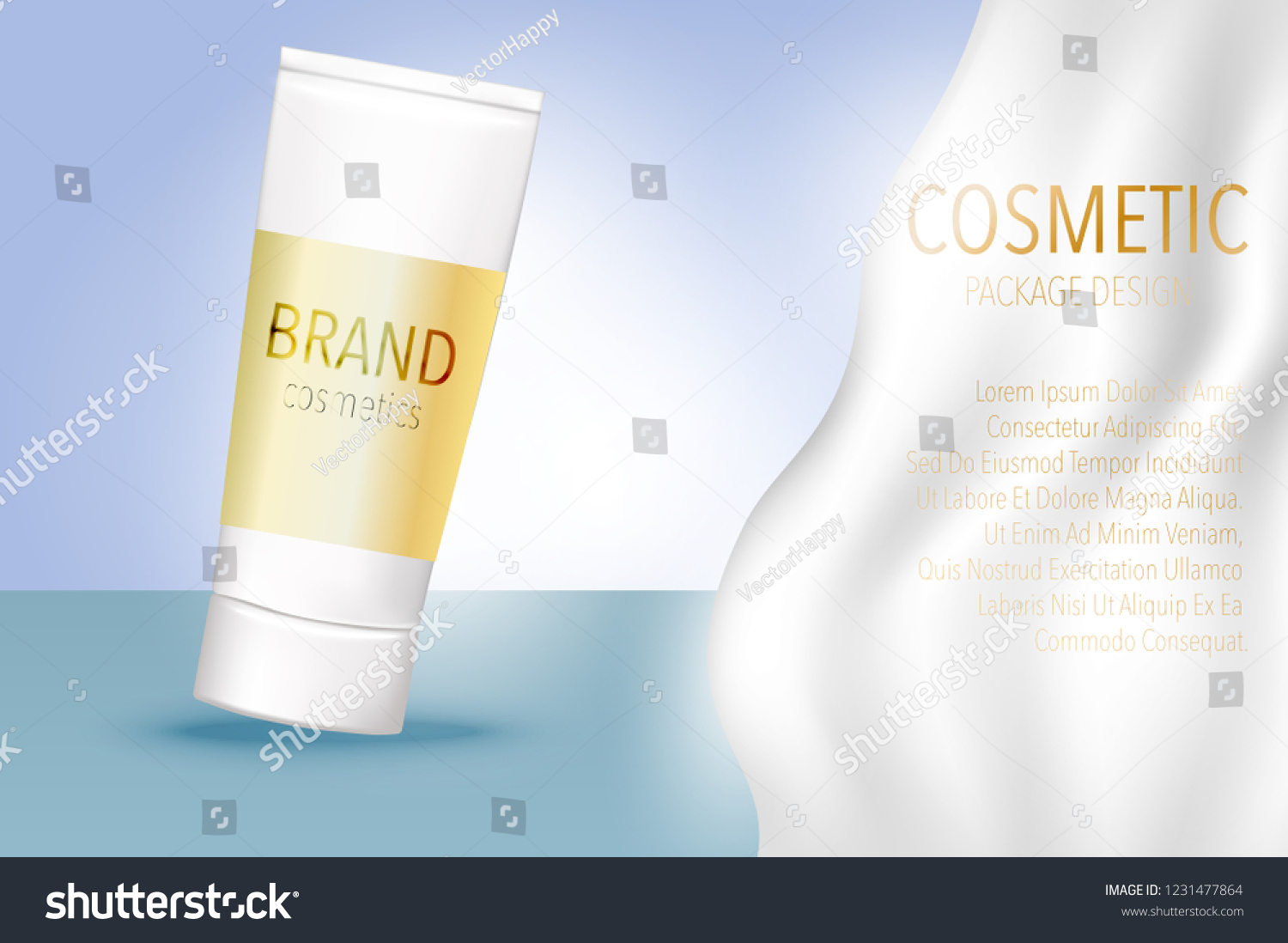 Cosmetic Package Mock 3d Skincare Design Stock Vector Royalty Free 1231477864