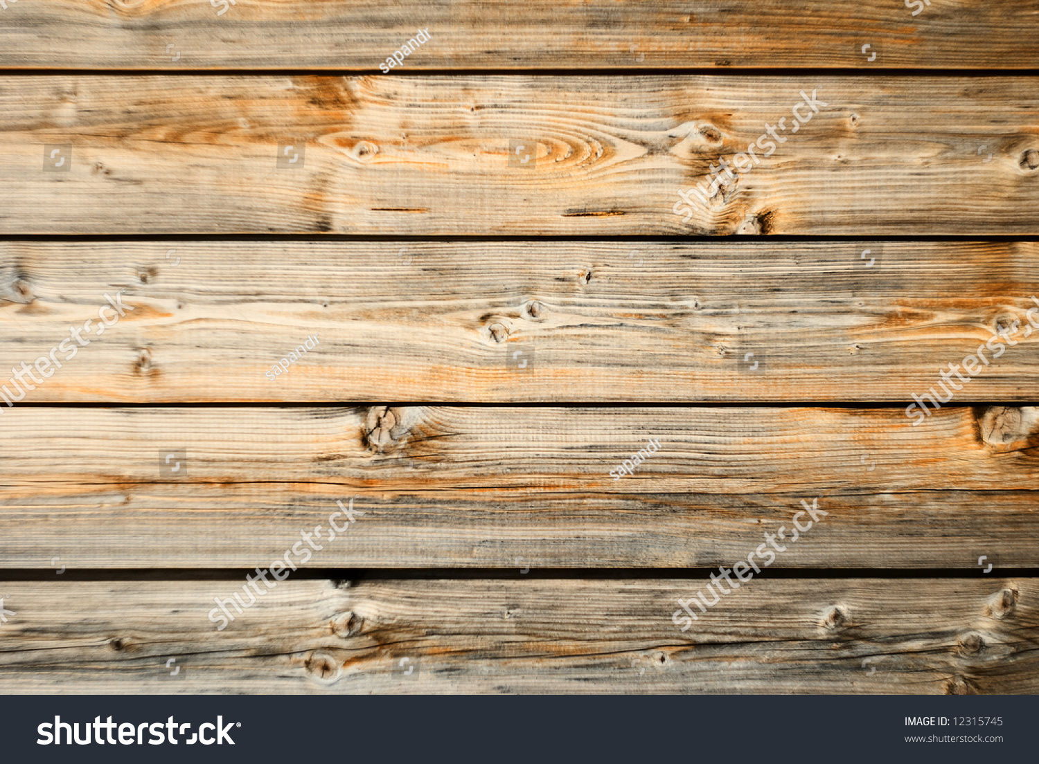 Old wood wall texture with horizontal orientation. Old Wood Wall Texture Horizontal Orientation Stock Photo 12315745