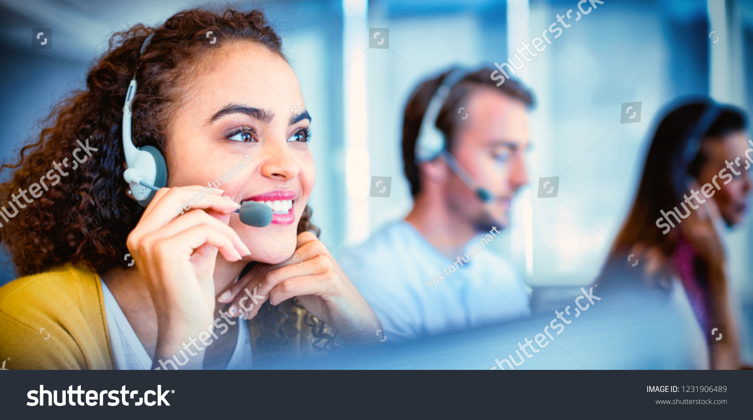 Customer service executive working at office #1231906489