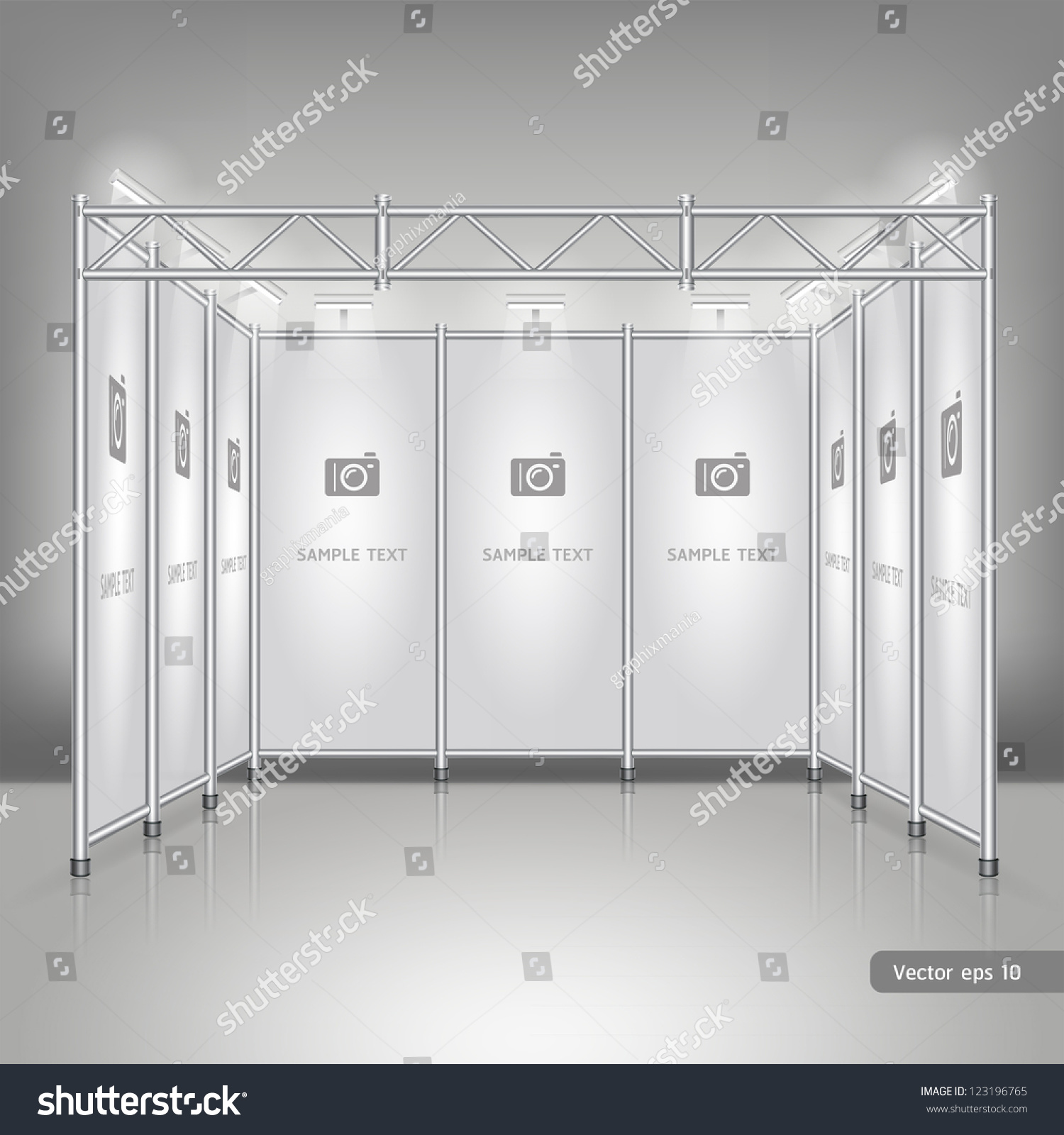 Simple Exhibition Stand Vector : Trade exhibition stand display vector illustration