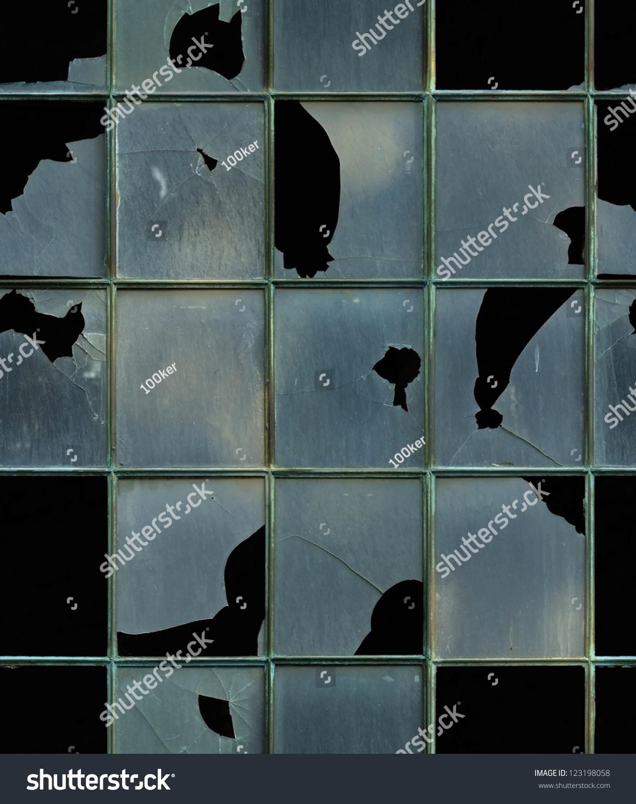 seamless window broken glass texture stock photo 123198058