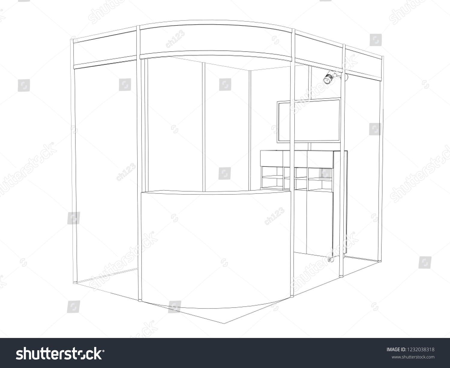 Exhibition Stand Sketch : Design your own exhibition stand with sketch and m
