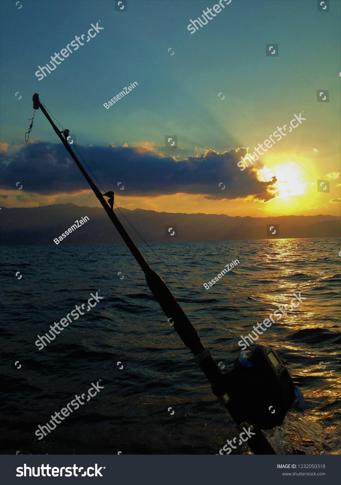 Fishing Sea Silhouette Muscat Oman Stock Photo (Edit Now