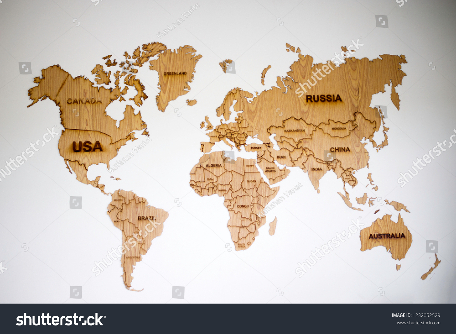 Countries Bordering China Map.World Map Countries Borders Abstract World Stock Photo Edit Now