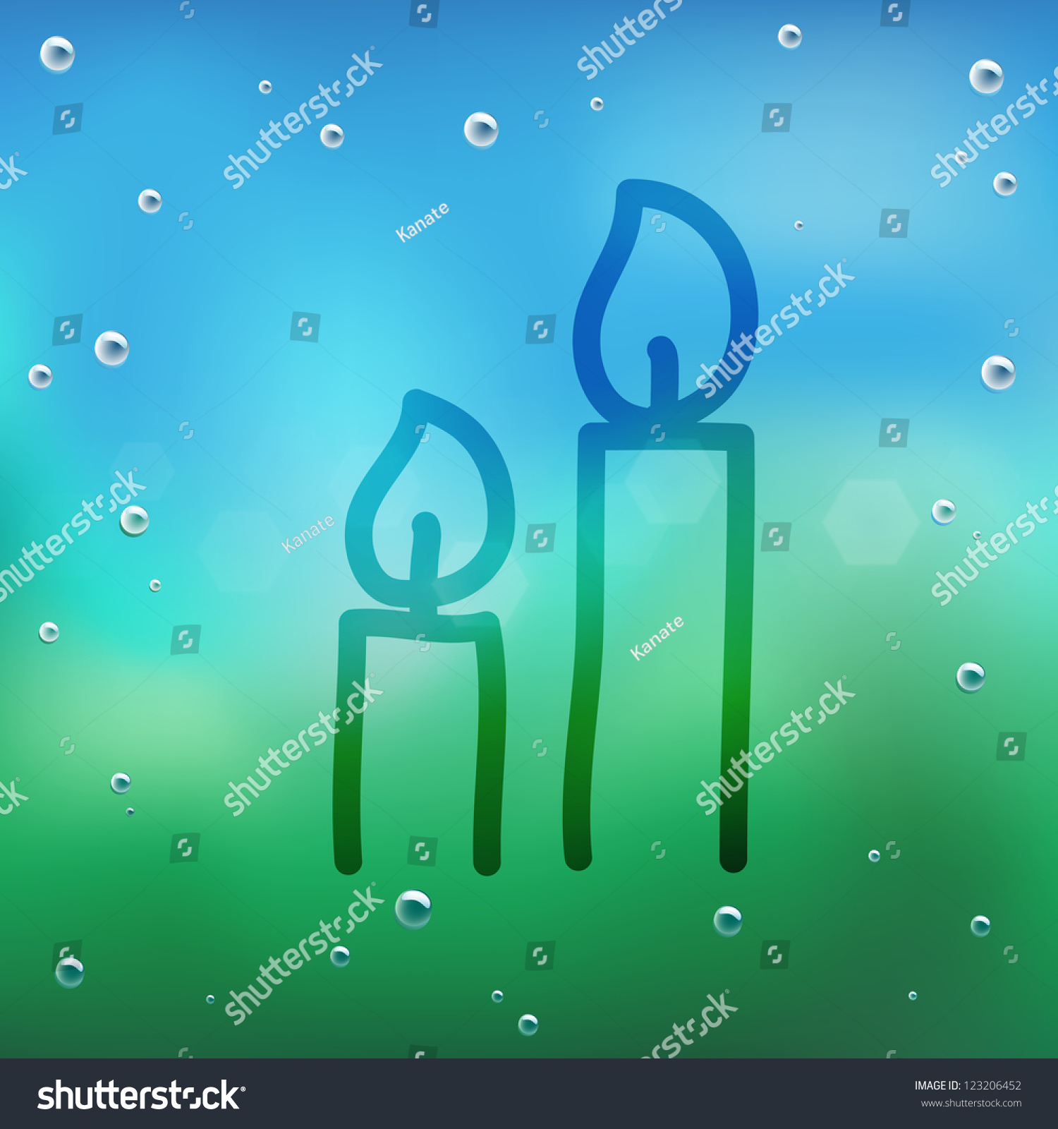 Hand Draw Cartoon Water Drop On Stock Vector Royalty Free