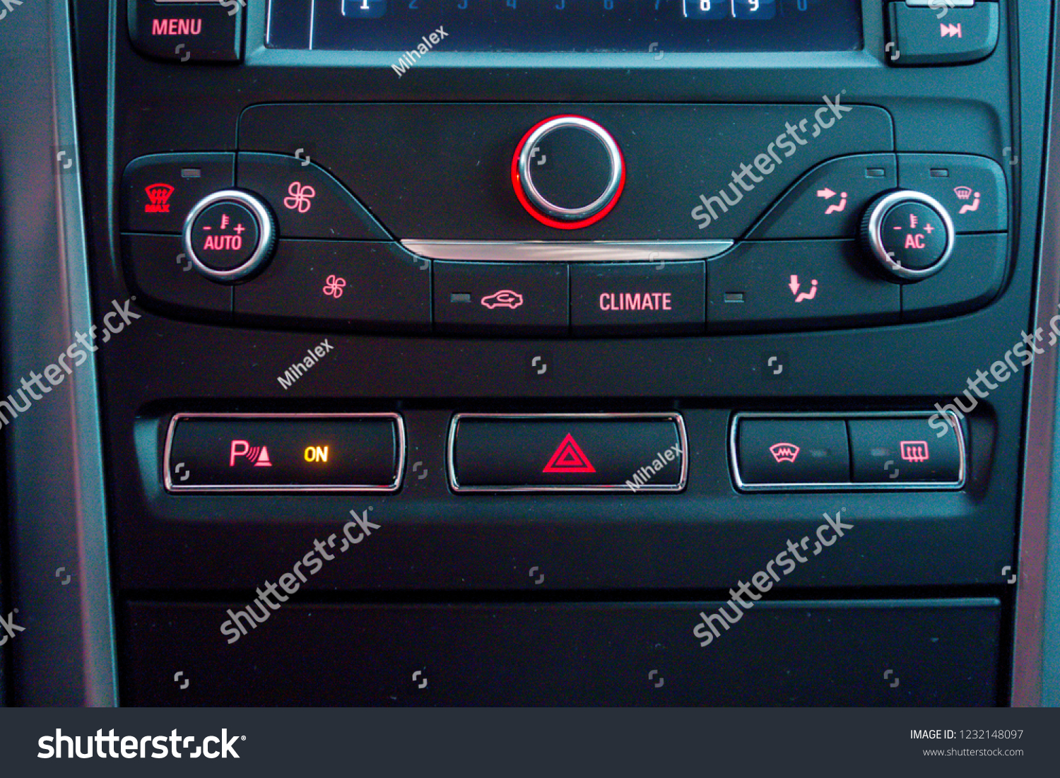 Close Temperature Dual Climatic Control Unit Stock Photo