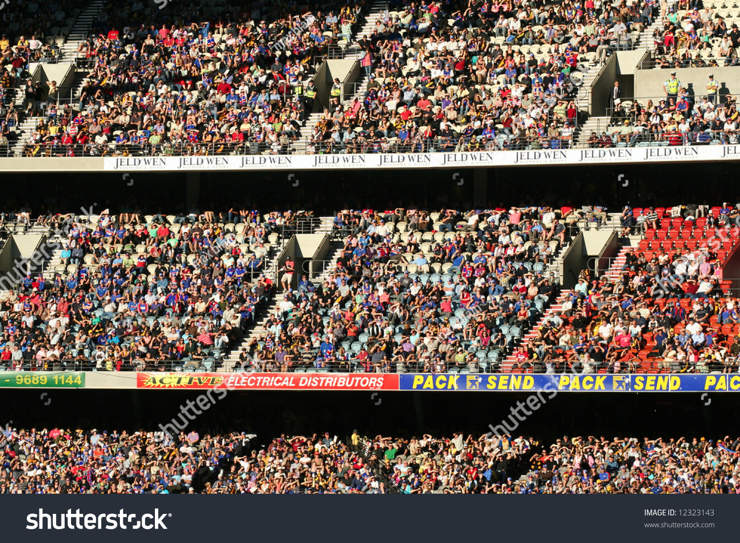 Editorial crowd australian rules football stadium stock photo editorial crowd at australian rules football stadium buycottarizona Image collections