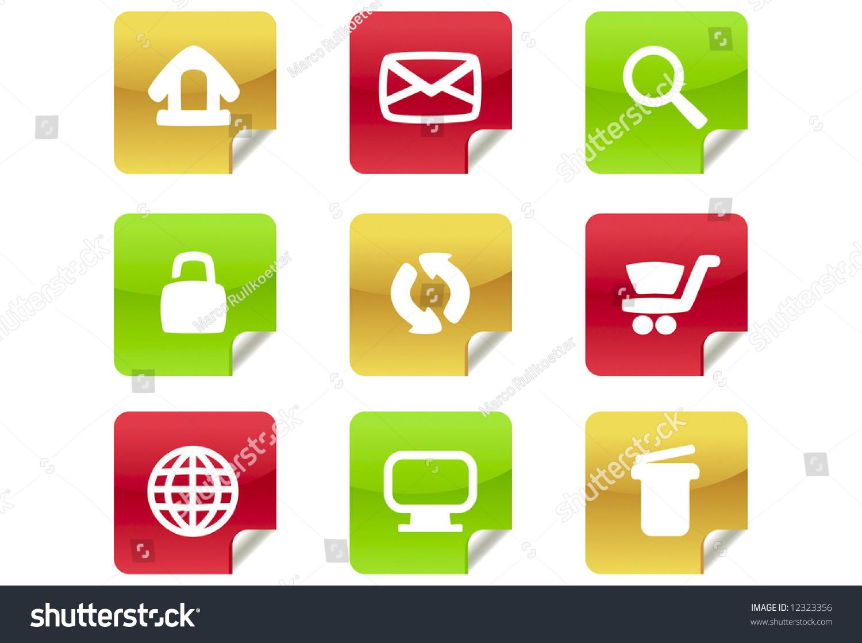 Web 20 Blog Icons 1 Set Stock Vector 12323356 - Shutterstock