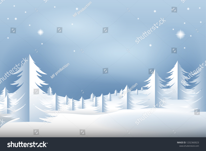 Winter Landscape Vector Background Winter Scene Stock Vector ...