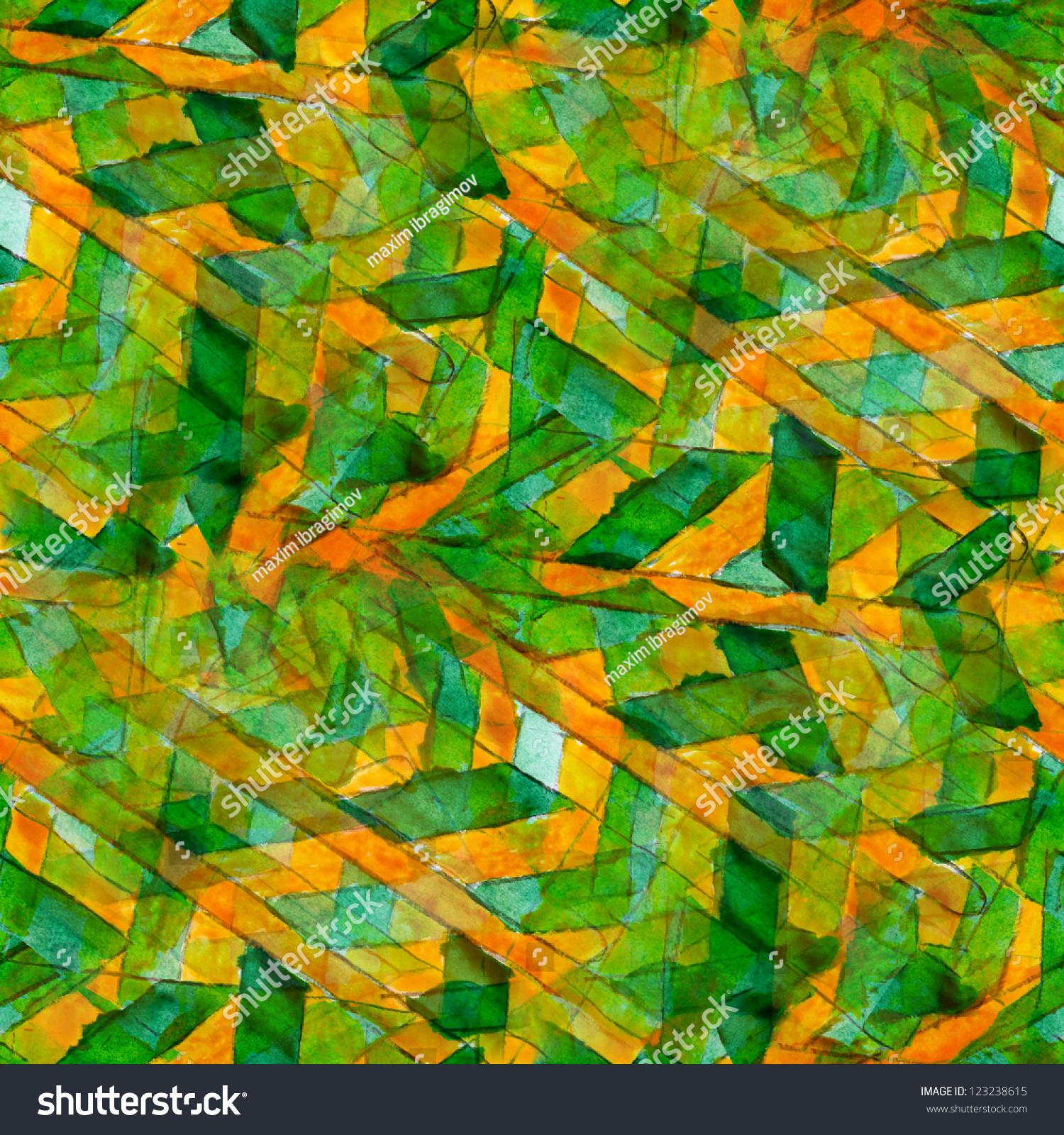 abstract yellow green drawing - photo #27