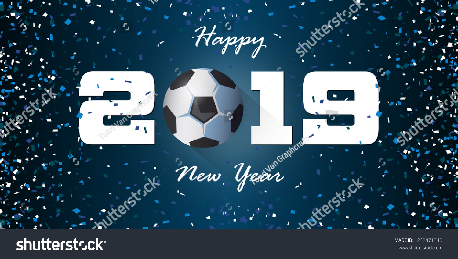 Happy New Year 2019 Banner Paper Stock Vector Royalty Free