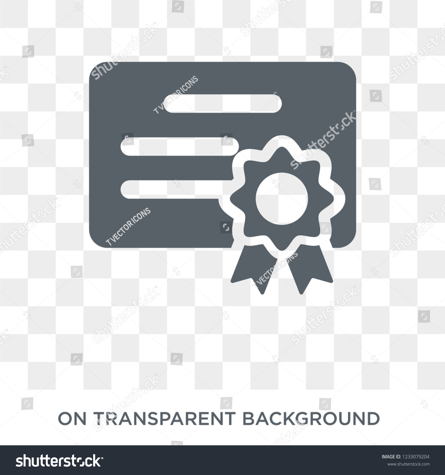 Certification Icon Certification Design Concept Human Stock Vector