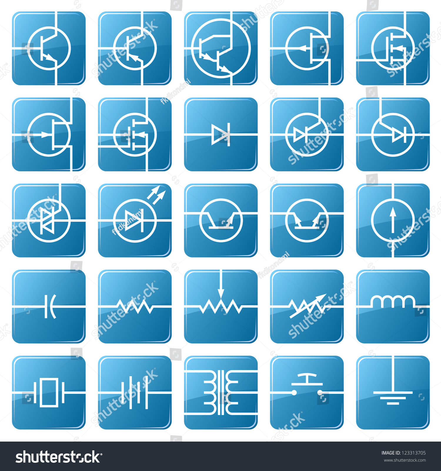Symbols Electronic Components Shown Picture Stock Vector (Royalty ...