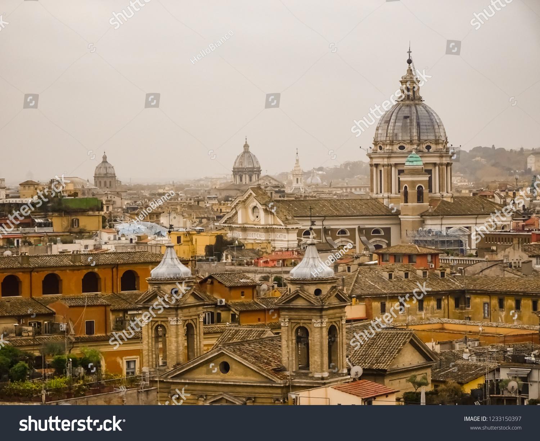 Rome Skyline Terrazza Del Pincio Stock Photo Edit Now