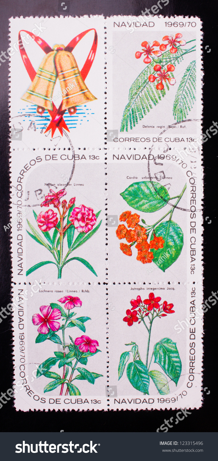 Cuba Circa 1969 Stamp Printed Cuba Stock Photo Edit Now 123315496