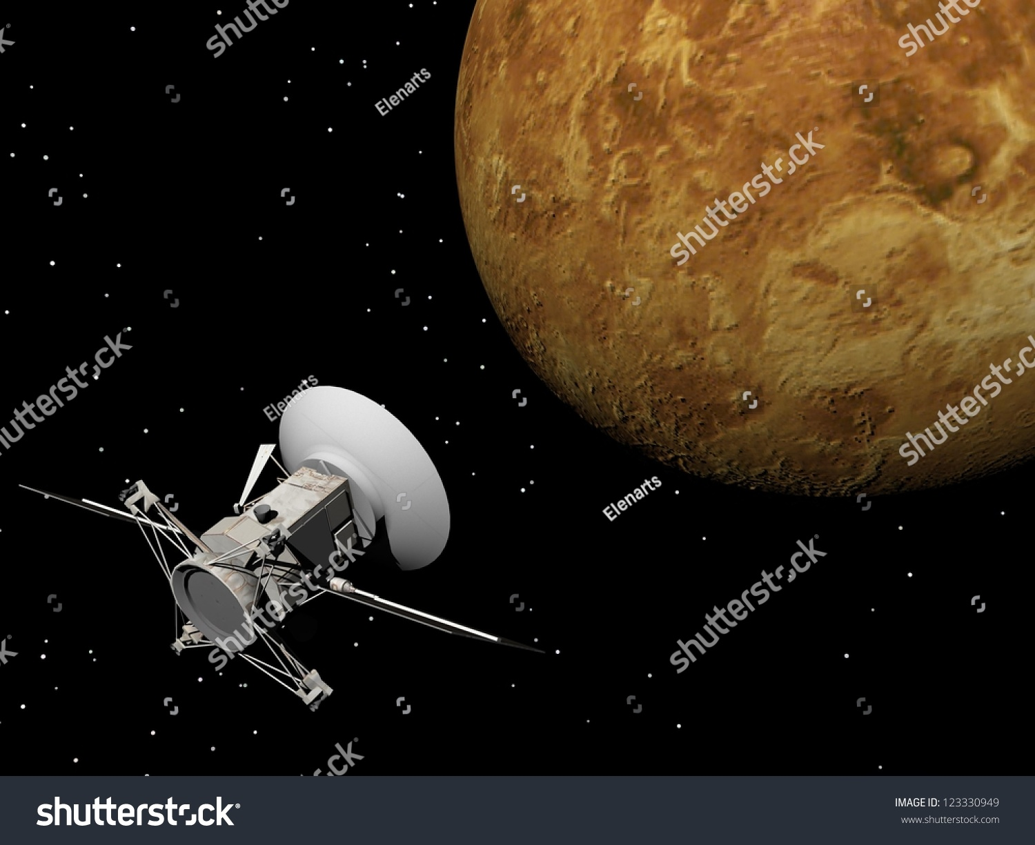 Magellan Spacecraft Near Venus Planet By Stock ...