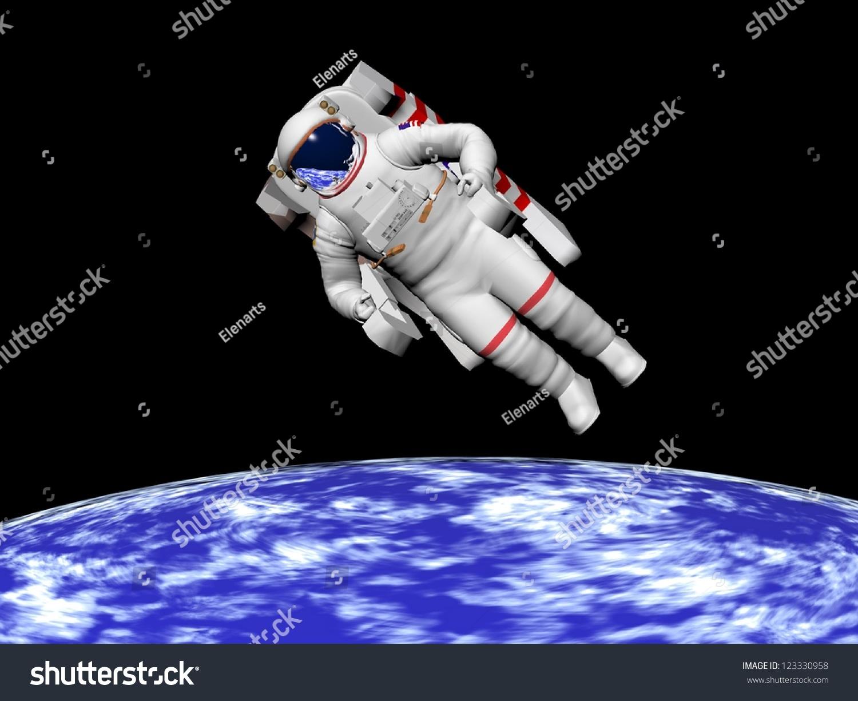 astronaut black background - photo #22