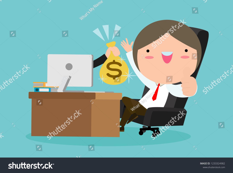 Make Money Online Business Concept Vector Stock Vector