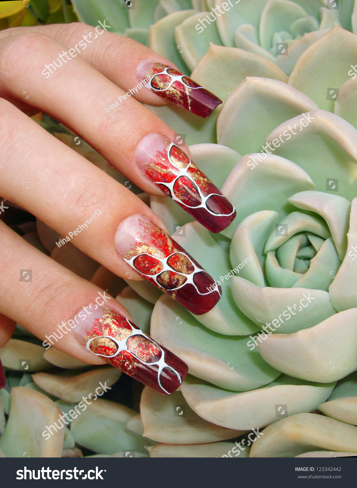 Beautiful Female Fingers Nice Abstract Foil Stock Photo (Download ...