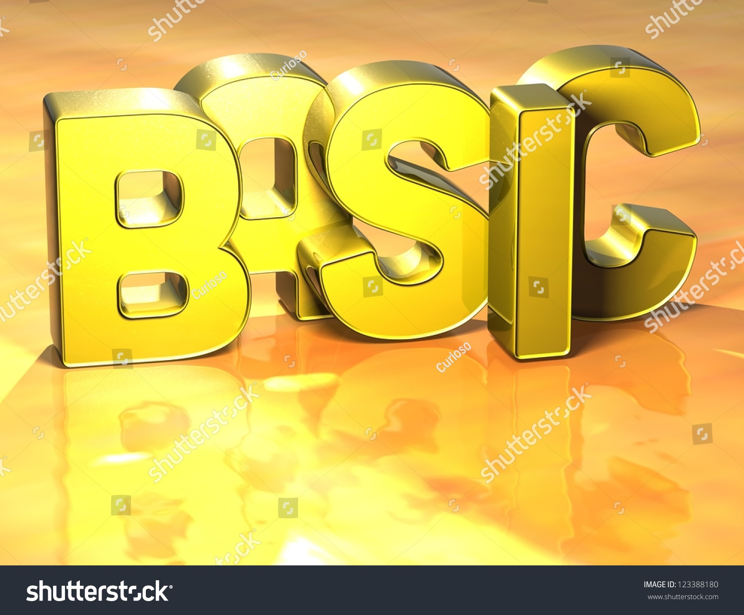 3d Word Basic On Yellow Background Stock Illustration 123388180 ...