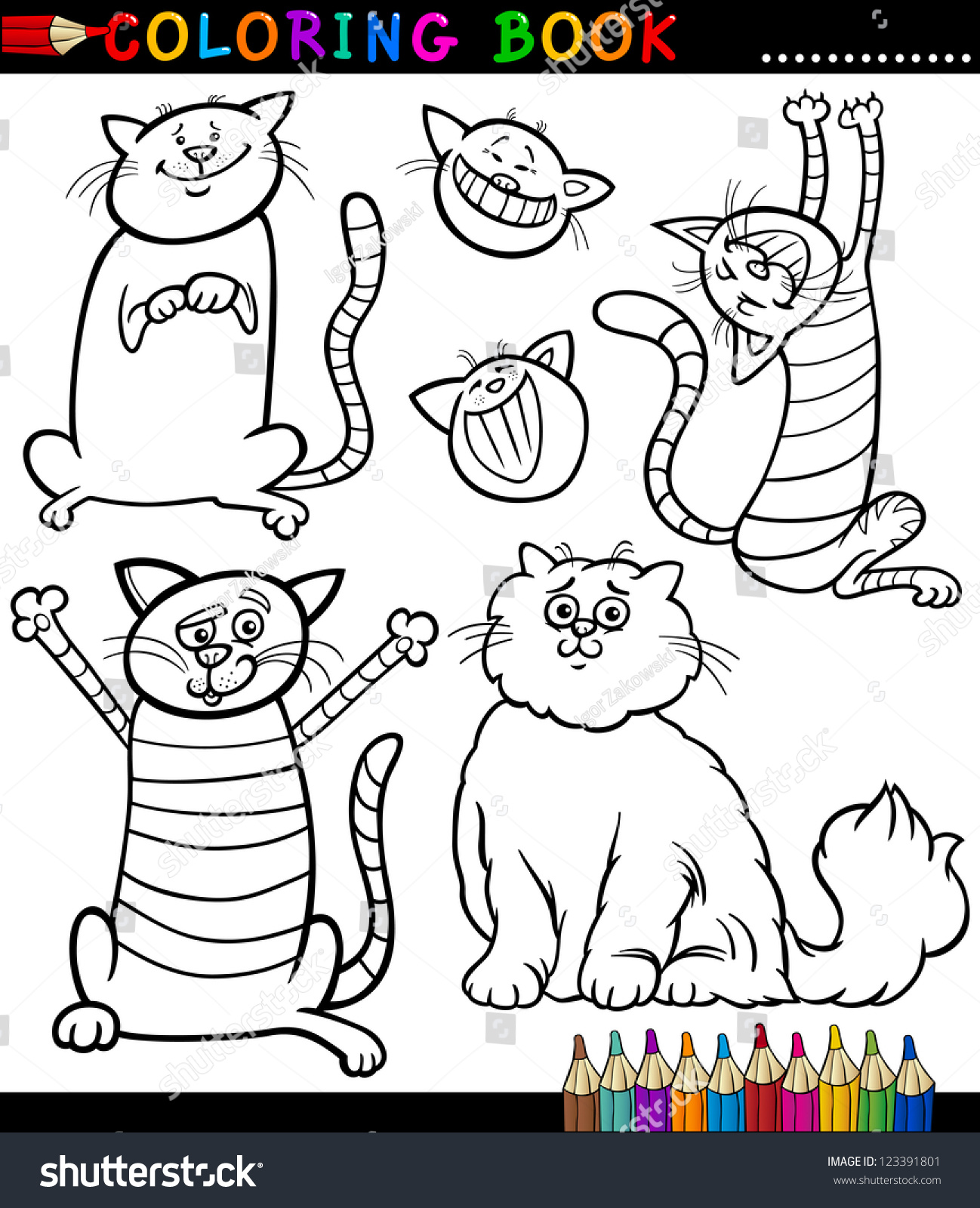 Coloring book kittens - Save To A Lightbox