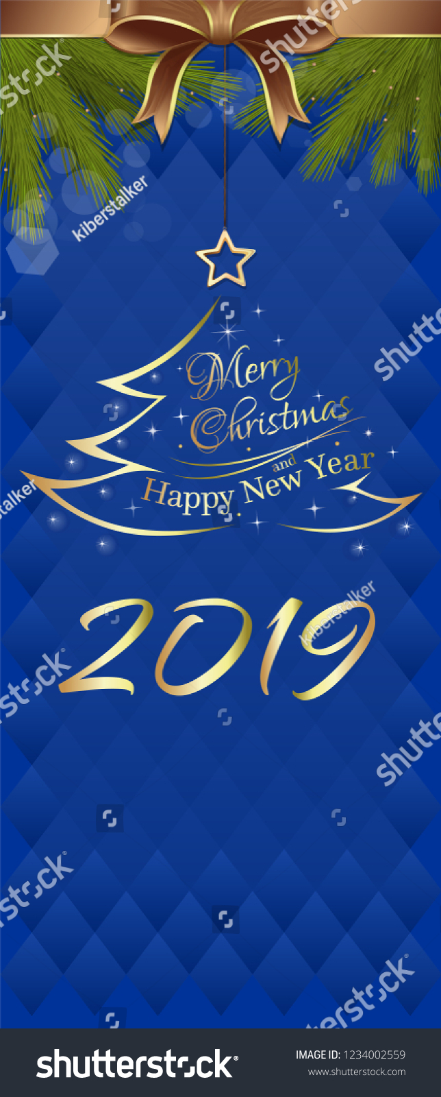 blue vertical banner for new year 2019 merry christmas and happy new year vector