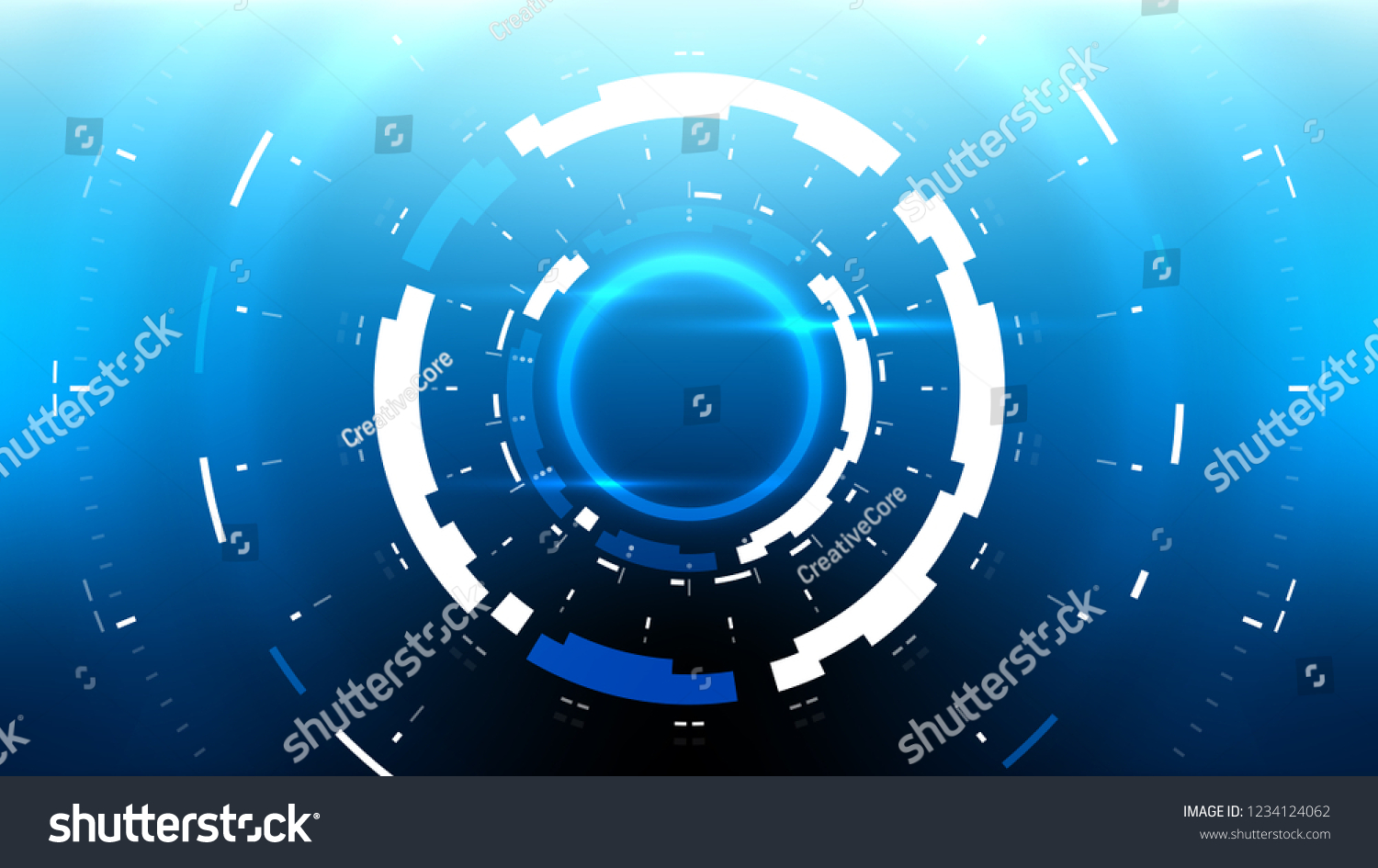Futuristic Technology Abstract Background Vector Modern Stock Vector