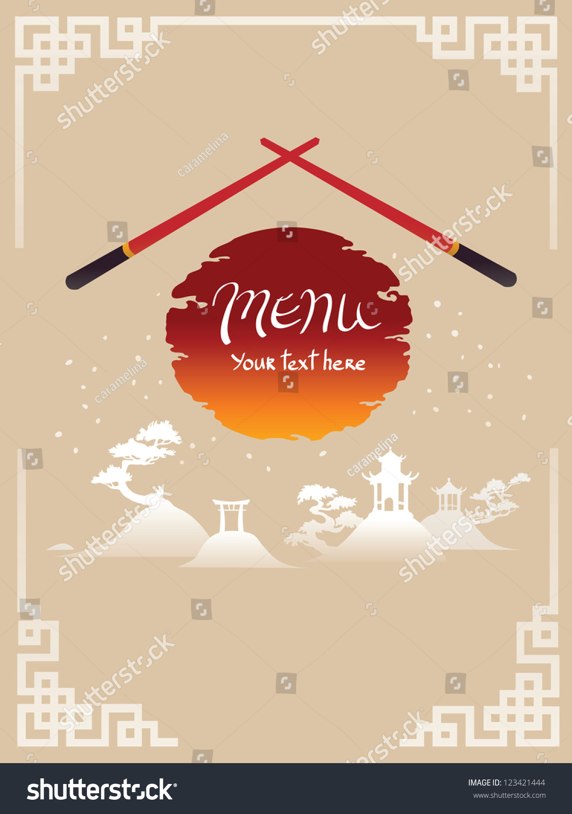 Asian menu template
