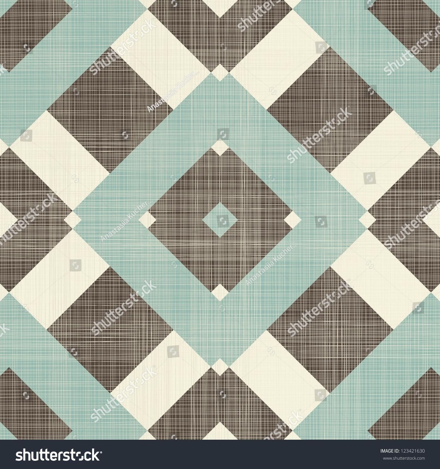 Retro geometric seamless pattern fabric texture stock for Object pool design pattern