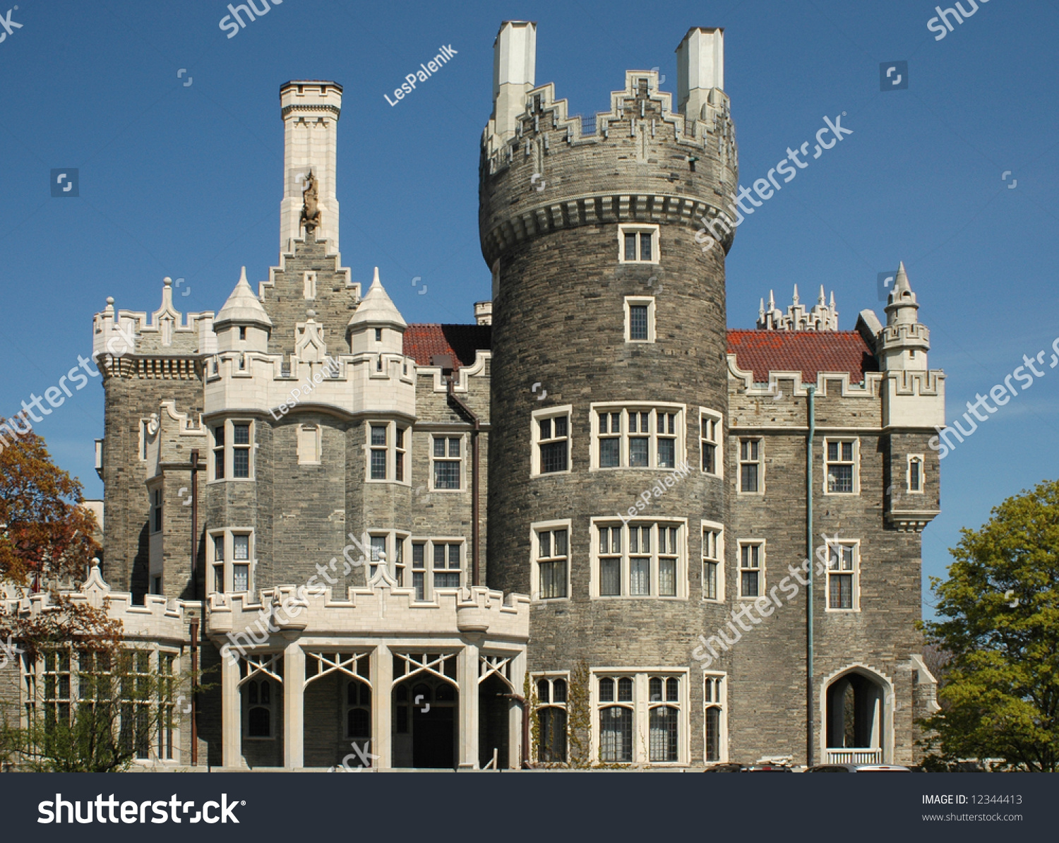 Casa loma castle in toronto stock photo 12344413 for Casa loma mansion toronto
