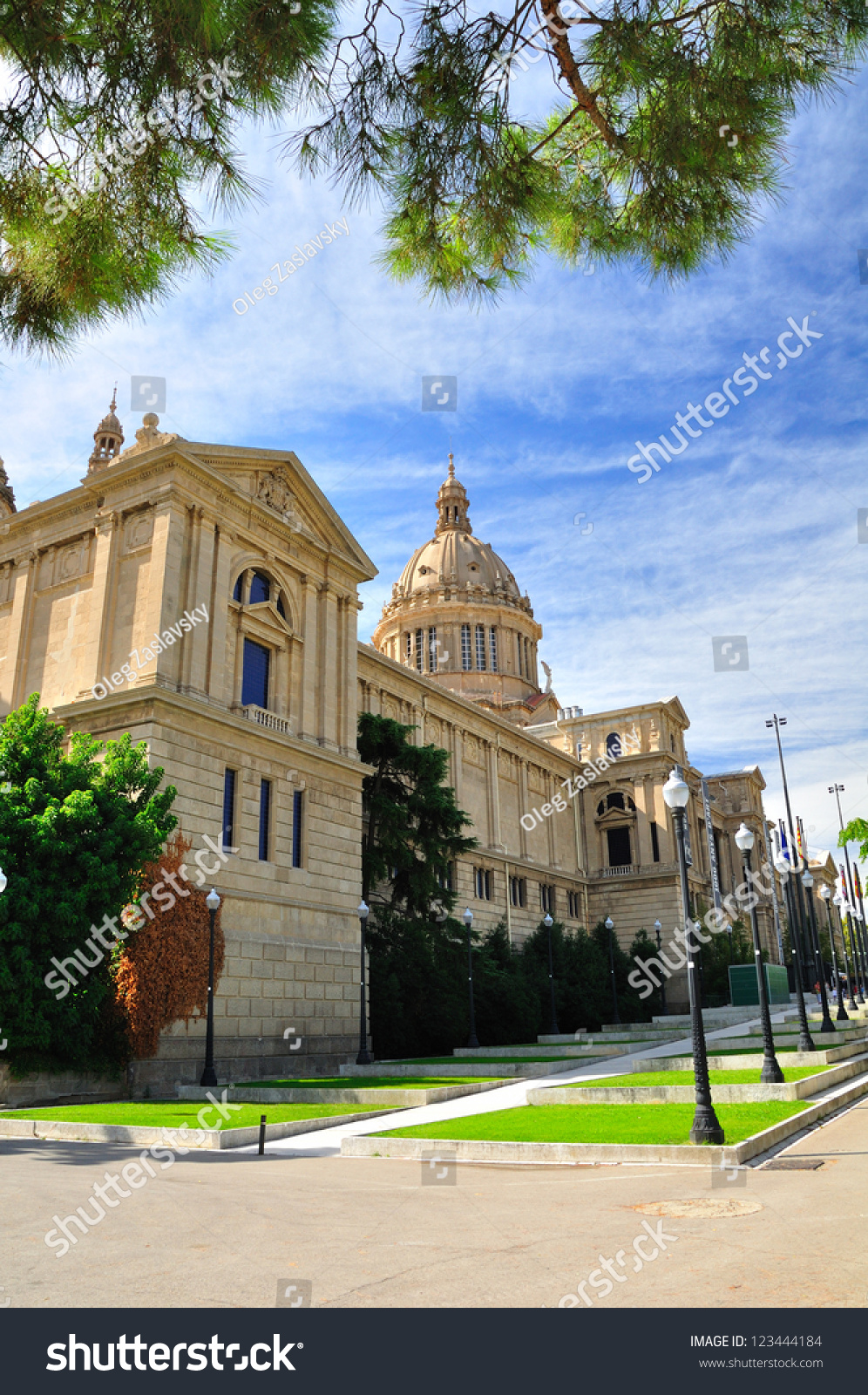 National art museum of catalonia barcelona stock photo for Artiste peintre catalan