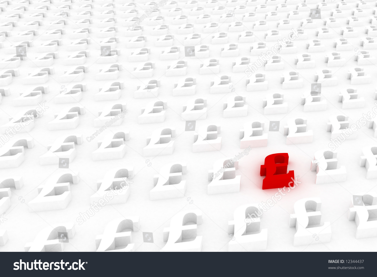 Red different british pound symbol sticking stock illustration red different british pound symbol sticking out of the crowd biocorpaavc Choice Image