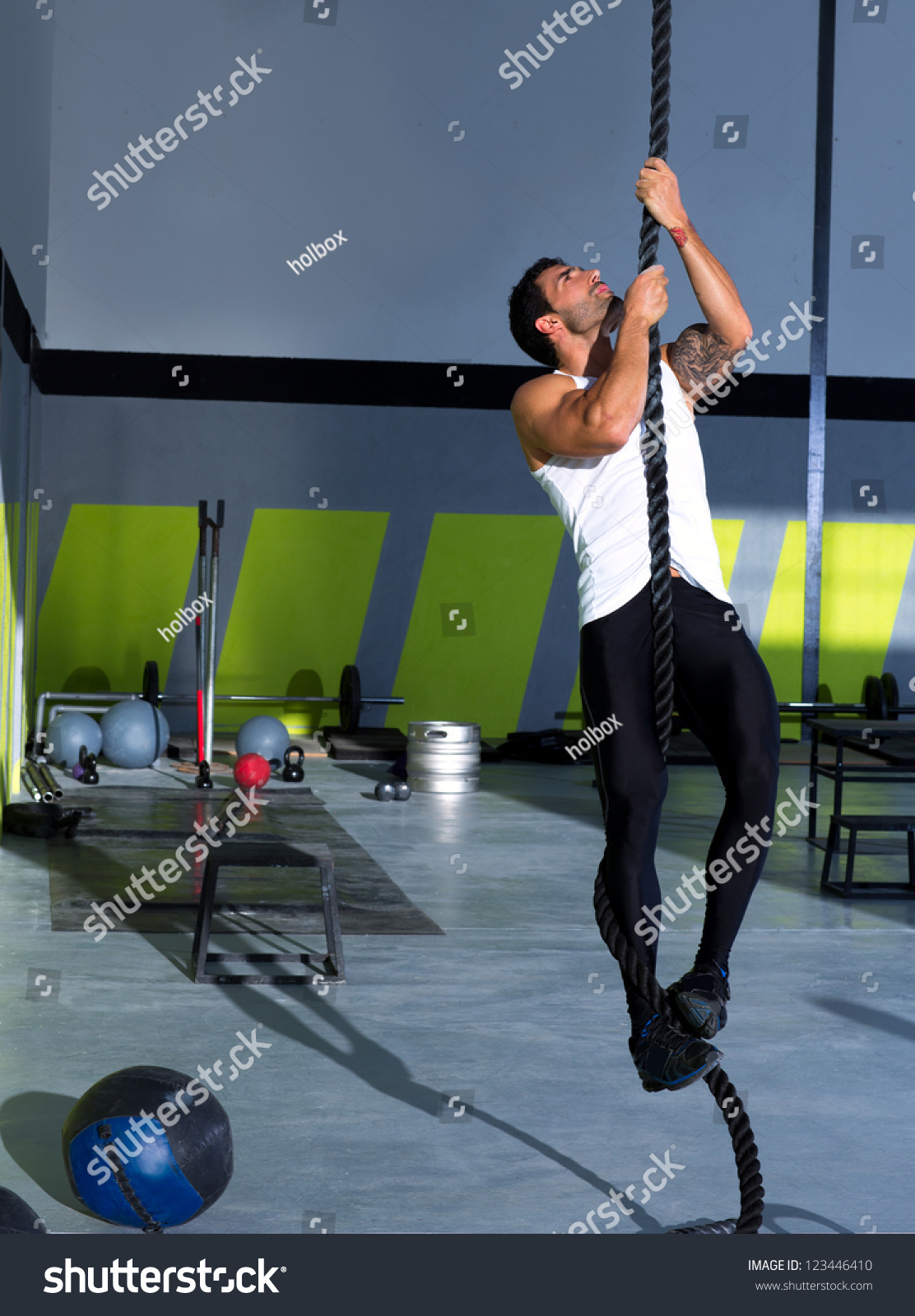 fitness rope climb exercise fitness gym stock photo edit now