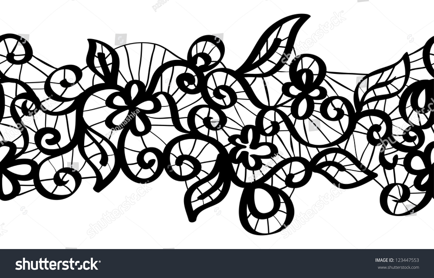Simple lace patterns clipart - photo#22