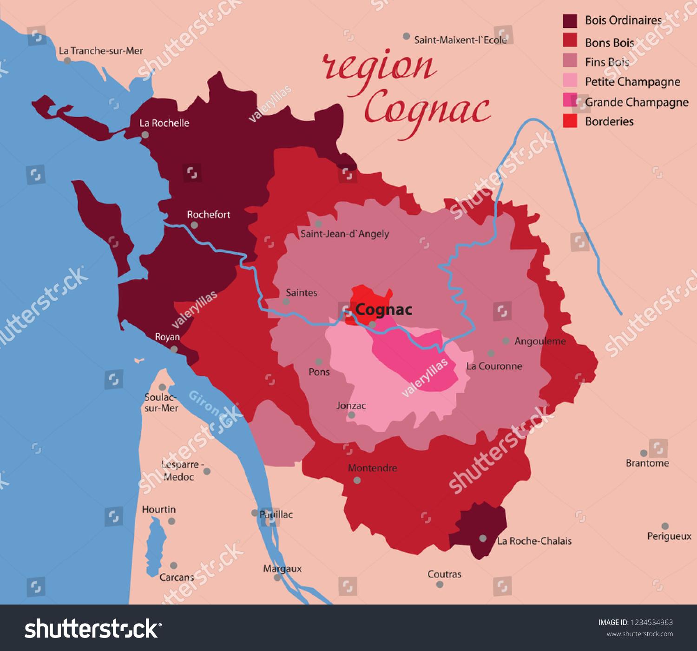 Cognac Region Of France Map.Region Cognac France Stock Vector Royalty Free 1234534963
