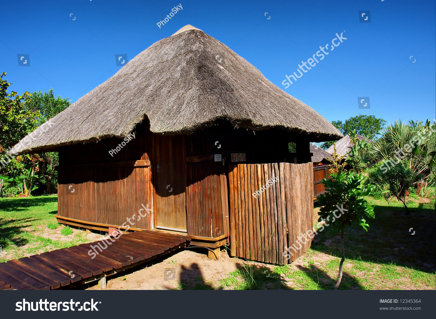 Reed roof traditional african house shot near sodwana bay nature reserve kwazulu natal - Traditional houses attic ...