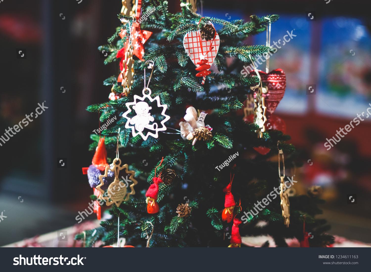 Elements Christmas Decoration Interior Santa Claus Stock Photo Edit Now 1234611163