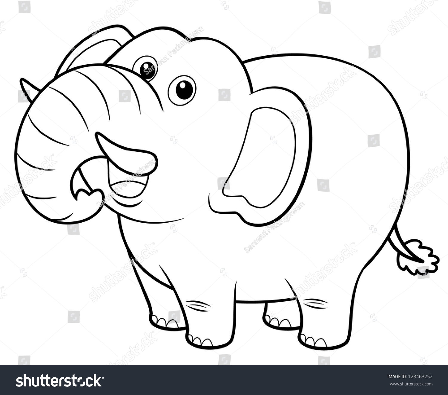 Coloring pictures elephant - Illustration Of Cartoon Elephant Coloring Book