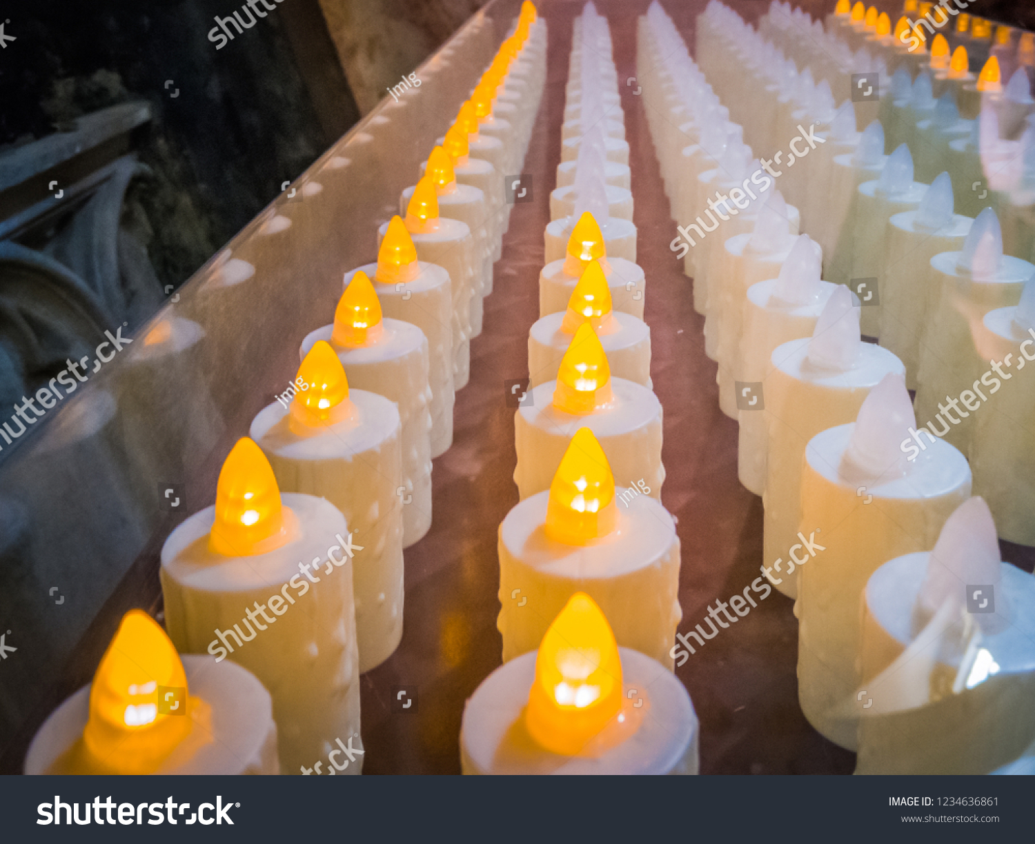 Close Photo Electronic Candles Switch Stock Edit Now Candle A Up Of The On When Someone Introduces