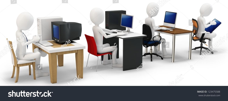 3d Man Computer Evolution Concept On Stock Illustration 123475588 ...