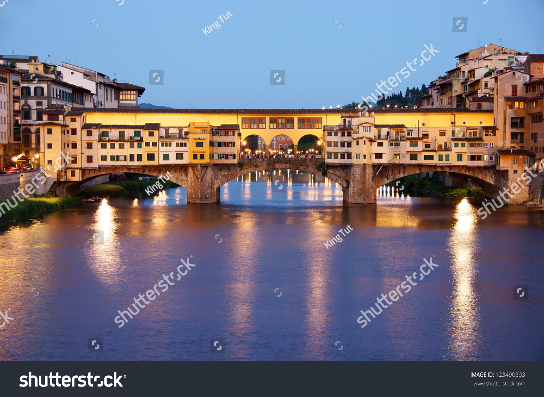 Old Bridge Ponte Vecchio Florence Italy Stock Photo ...