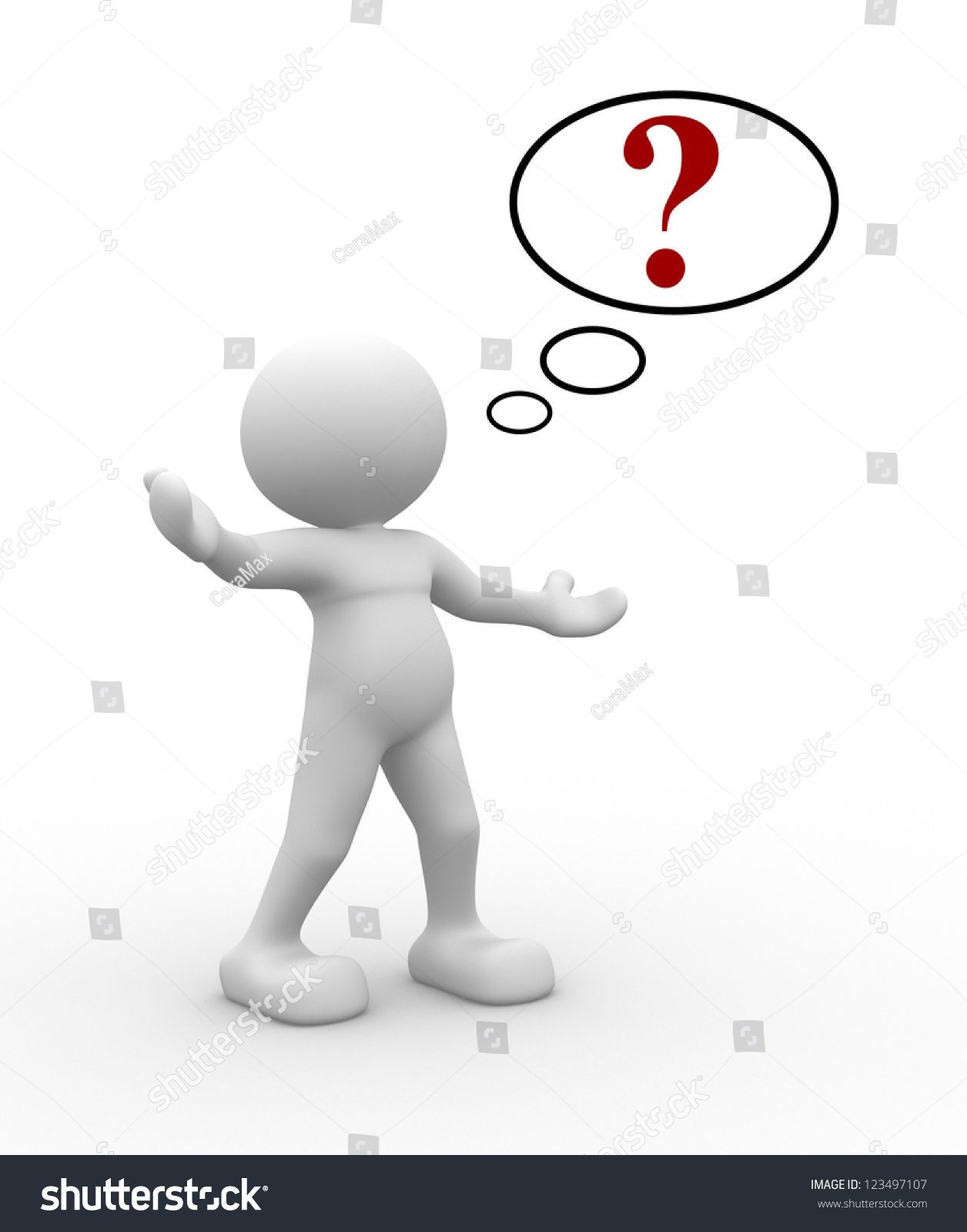 3d person with magnifying glass and question mark stock images image - 3d People Man People With Red Question Mark In Speech Bubble