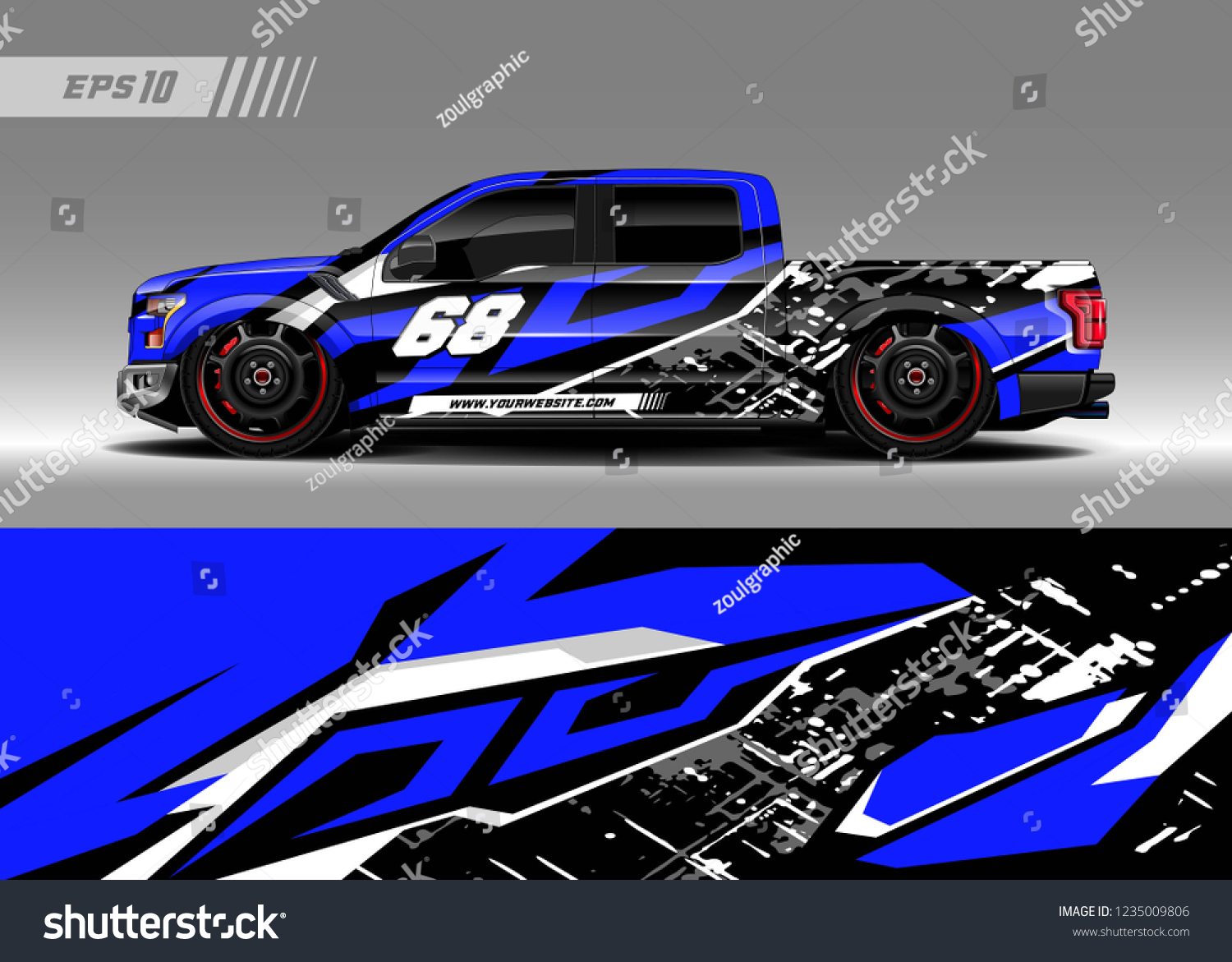 Vehicle graphic livery design vector graphic abstract stripe racing background designs for wrap cargo van
