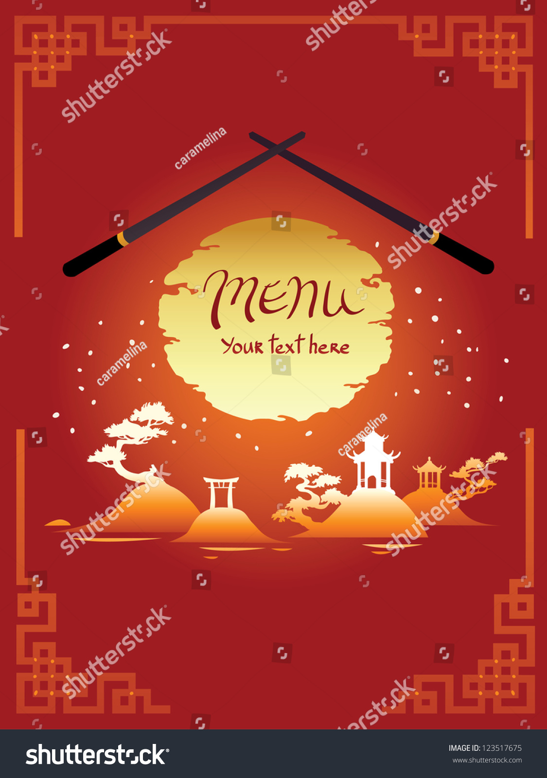 Template Design Asian Menu Stock Vector 123517675 ...