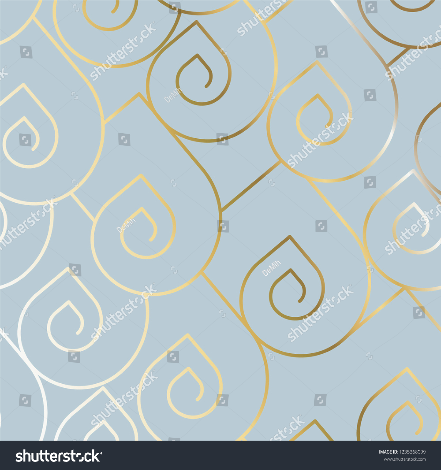 182bc91998d Golden art deco frame on modern background. Light blue   Golden colors  design. Wedding