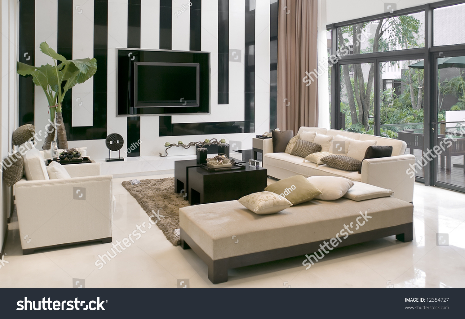 Living Room House Living Room modern houseliving room with the furniture stock photo save to a lightbox