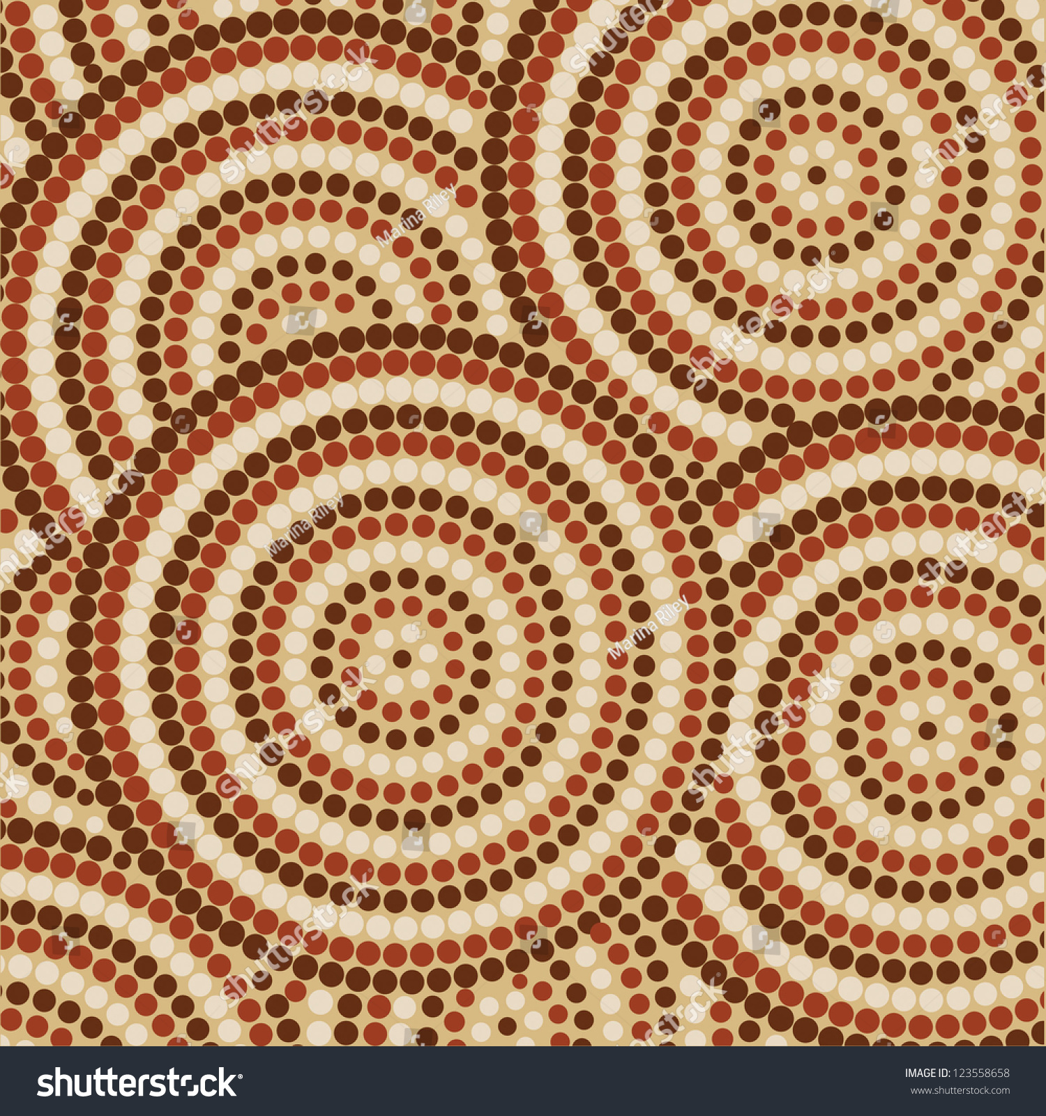 Aboriginal Dot Painting On White Paper
