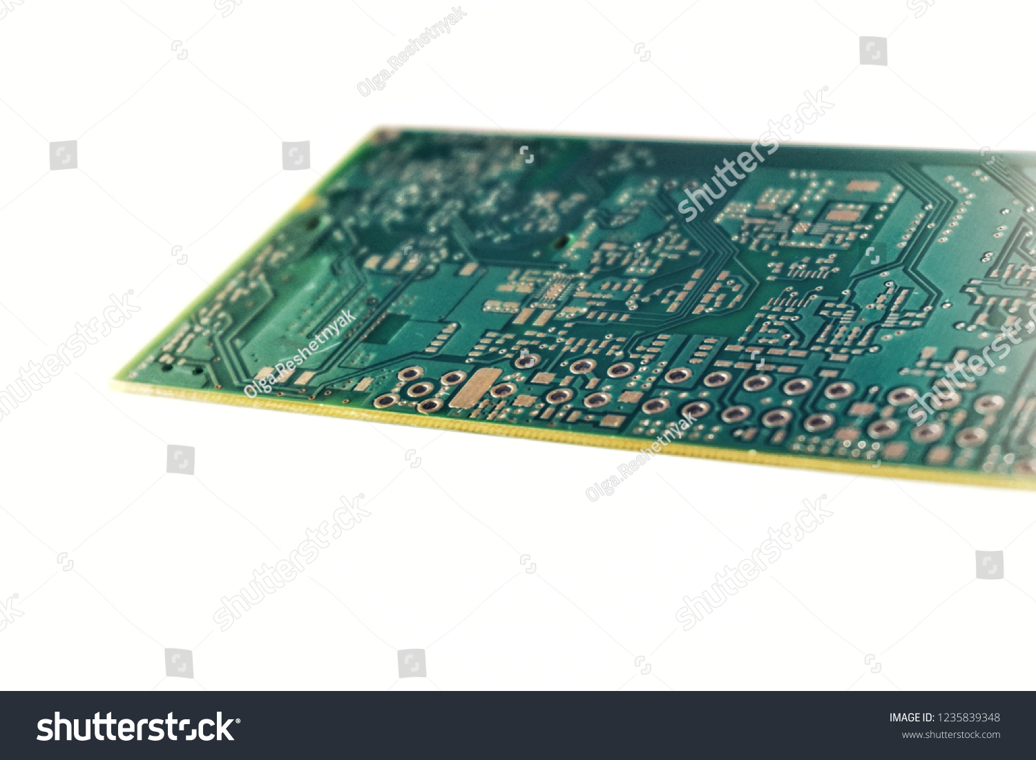 Printed Circuit Board Pcb Isolated On Stock Photo Edit Now Photos Images Pictures Shutterstock White Background